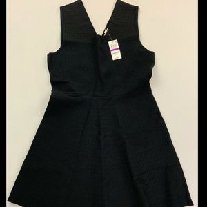 Maison Jules Black Sleeveless Fit Flare Dress NWT